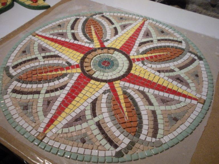 Mosaique de la table d'orientation